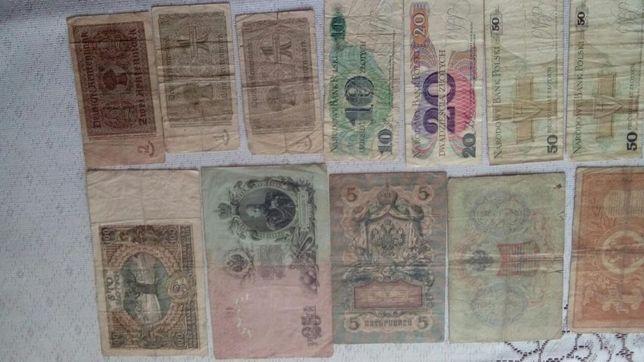 Stare banknoty RUBLE,marki .lub zamiana na czesci do starych motocykli