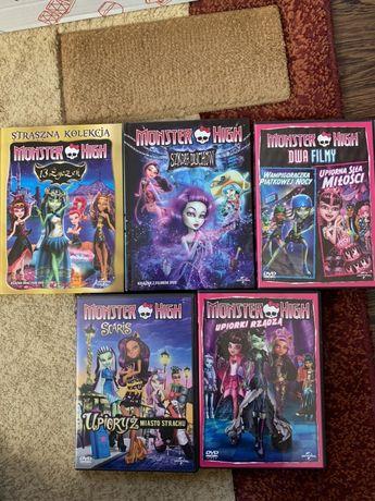 5 plyt dvd + 2 książki Monster High