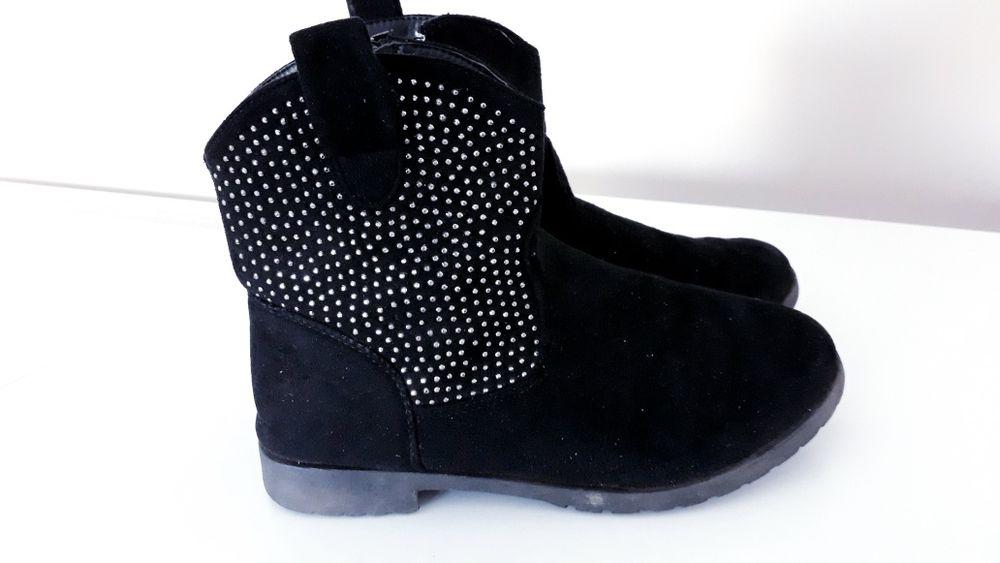 Ozdobne czarne botki GirlZ Only roz 34 Nowa Dęba - image 1