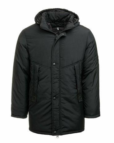 Размер 40 Теплая удлиненная куртка-парка