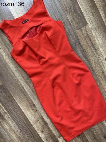 Czerwona sukienka Mohito w rozm. 36