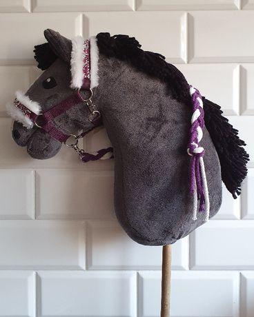 Kantar dla hobby horse z uwiązem w kolorze śliwkowym
