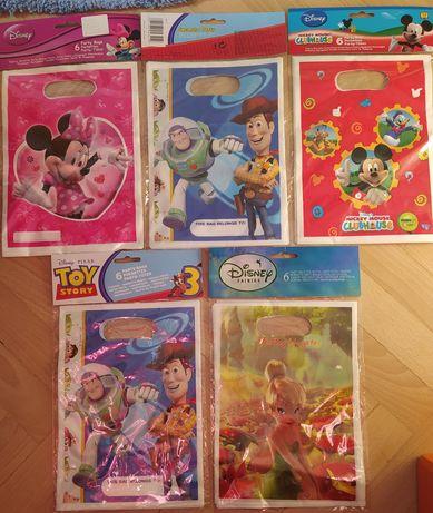 NOWE Torebki prezentowe Disney 30 szt URODZINY, PRZYJĘCIE