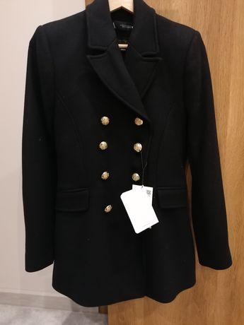 Płaszcz czarny Zara XS