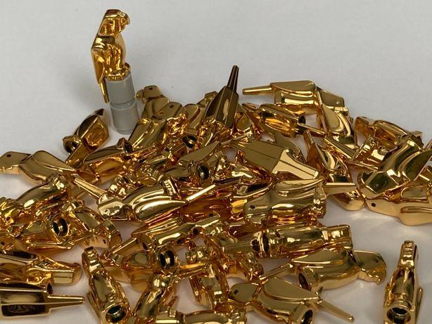 Lego złote chromowane papugi - oryginalne klocki Lego