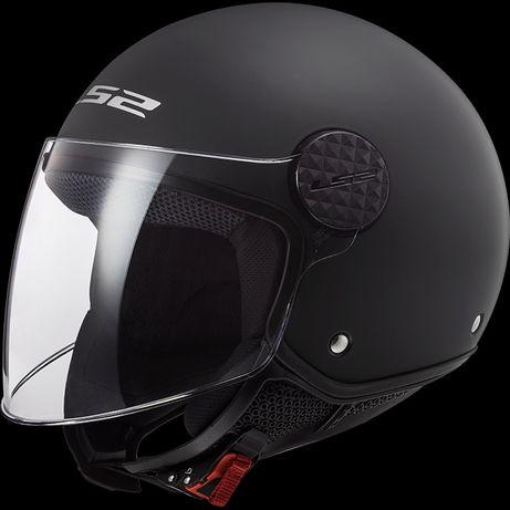Otwarty kask motocyklowy LS2 OF558 SPHERE MATT BLACK na SKUTER