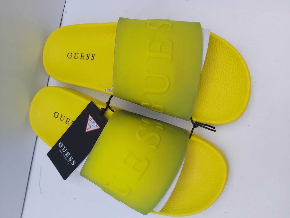 NOWE żółte klapki GUESS limonka neon Pruszków - image 1