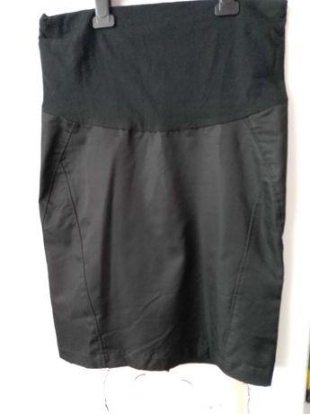 Spódnica ciążowa 36 S ołówkowa czarna z pasem