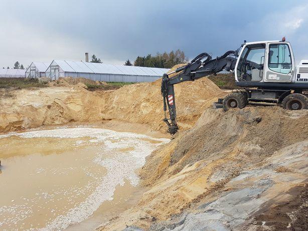 Usługi koparką obrotową Liebherr900 wynajem wyburzenia rozbiórki ziemn