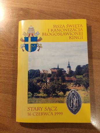 Msza kanonizacjyjna Błogosławionej Kingi 1999-ksiażeczka