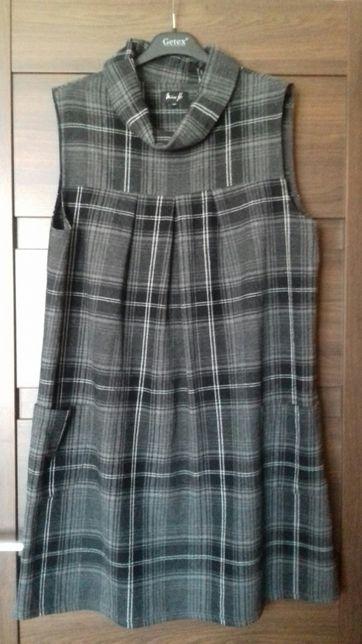 Sukienka ciążowa w kratkę r42