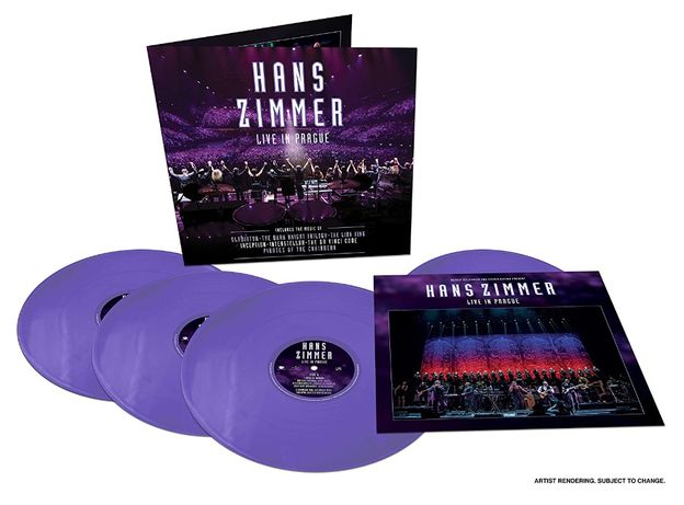 Hans Zimmer - COLOR & LIMITED !!! 4 płyty winylowe - Live in Prague