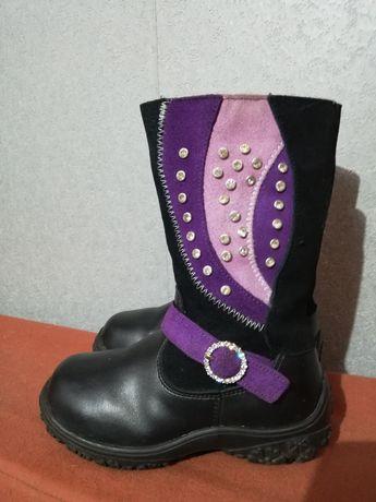Красивые зимние сапоги ботинки для девочки