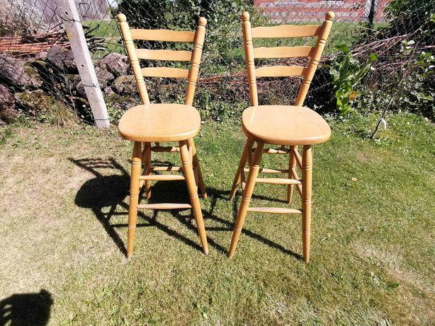 Hokery drewniane barowe krzesła wysokie