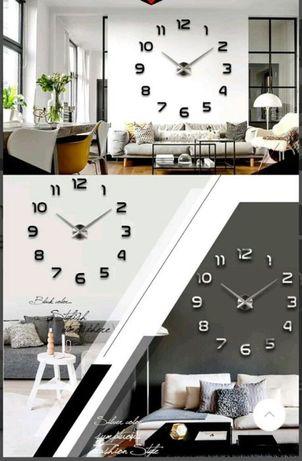 Большие 3D настенные часы WOW Зеркальные