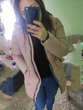 Nowa kurtka puchowa różowa