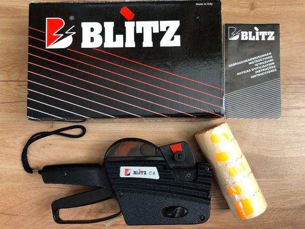 Metkownica Blitz C8 jednorzędowa + taśmy 5 sztuk pomarańczow