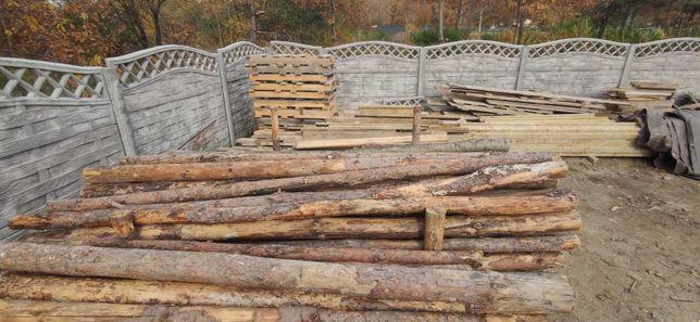 Stemple budowlane drewniane 265cm