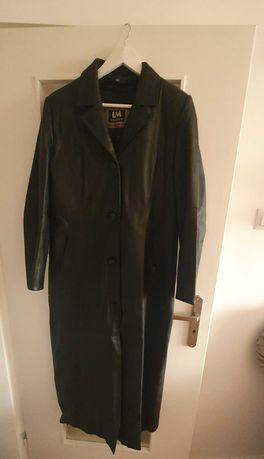 Skórzany płaszcz z podszewką LM Fashion