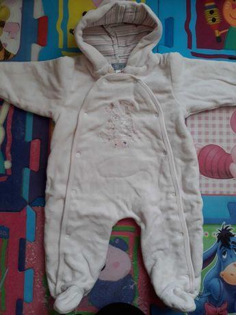 Ciepły kombinezon dla niemowlaka 62 68