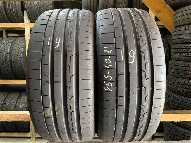2шт літні шини 255/40R21 Continental SportContact 6 19рік R21 255x40