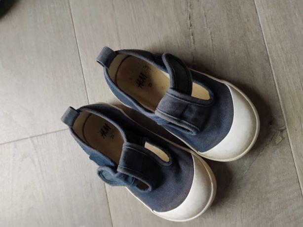 Buty dziecięce 23 trampki sportowe buciki granatowe hm H&m