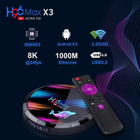 Smart TV Box H96 Max X3 4GB/64GB Android 9