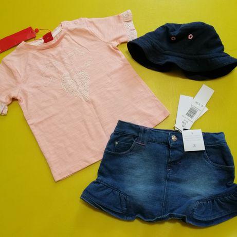 Джинсовая юбка idexe футболка s.oliver панамка primark комплектом ново