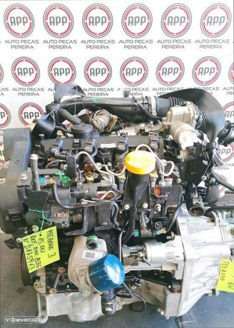 Motor Renault Megane 3 1.5 DCI 110CV referência K9K 836, aproximadamente 156 000 kms