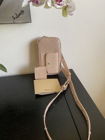 Bolsa/Carteira SALSA para smartphone e para auriculares Airpods NOVA!!