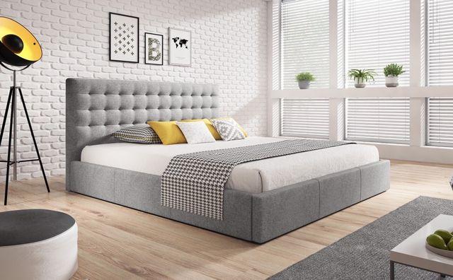 Łóżko tapicerowane VENNA ze stelażem + pojemnik 90/120/140/160/180x200