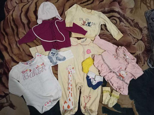 Пакет детских вещей на 6-9 месяцев