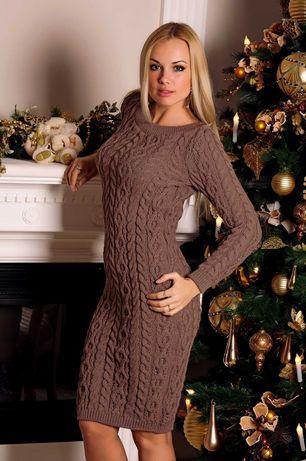 новое теплое вязаное платье от украинского бренда