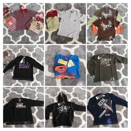 Mega Pakiet! Nowe koszulki, bluzki, bluzy 122-146