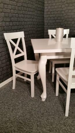 NOWE Krzesło bukowe białe drewniane prowansalskie krzyż krzyżak