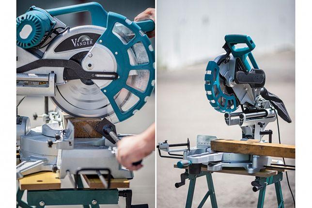 Ukośnica do drewna piła z przesuwem tarcza Vander vud707 305mm 2000W
