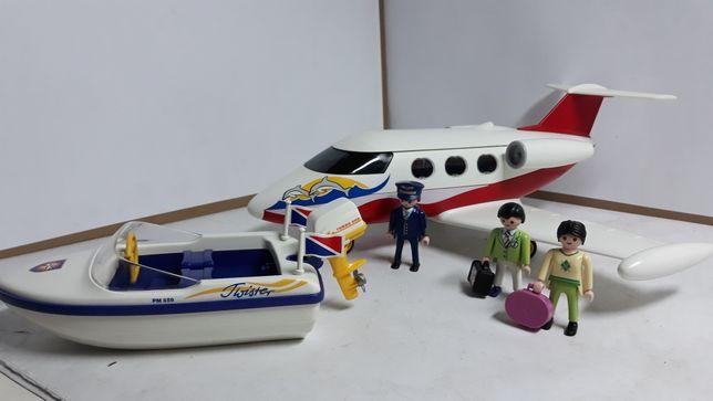 Playmobil wakacyjny samolot i łódź