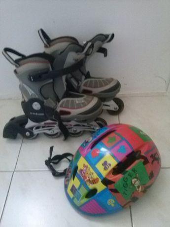 Patins 31-33 - capacete s