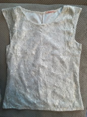 camaieu bluzeczka srebrna