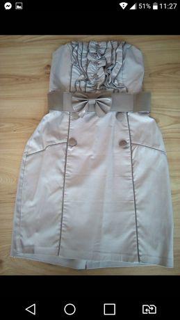 Beżowa sukienka 40