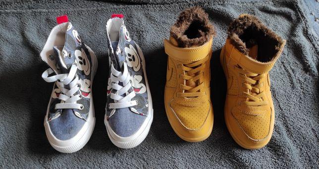 Buciki dla chłopca rozm. 28 Nike i H&M