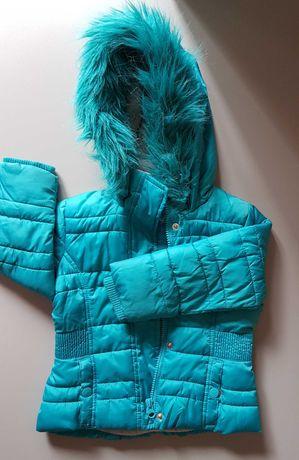 Kurtka dziewczęca zimowa c&a rozm. 92 turkusowa