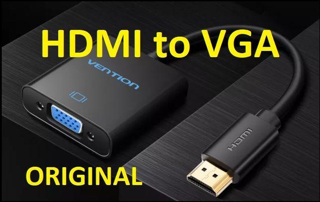 HDMI to VGA Vention конвертер переходник адаптер + AUDIO + питание