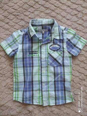 Koszula w kratę dla chlopca 116cm