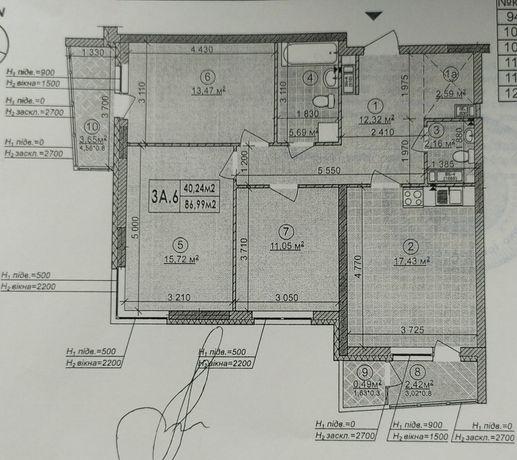 3к квартира в ЖК Сырецкие сады