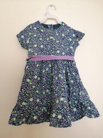 Sukienka sukieneczka kwiatki early days 74 fioletowa zielona