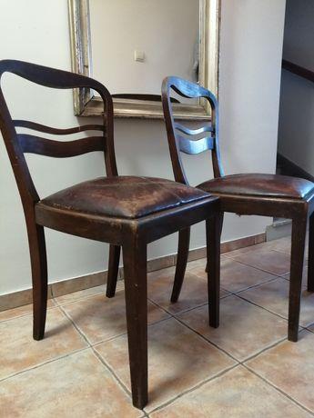 Krzesło art deco skóra