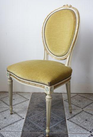 krzesła ludwik pałacowe ludwikowski medaliony drewniane antyki stare