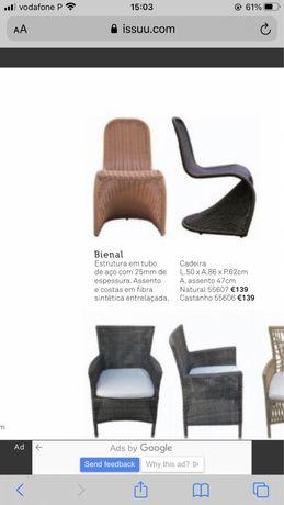 4 Cadeiras de jardim de area