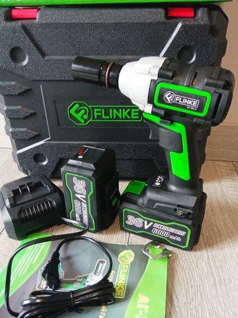 Гайковерт аккумуляторный Flinke 36v, два аккумулятора, brushless,цена!